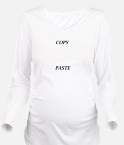 Copy and Paste Maternity T-shirt Long Sleeve Mater