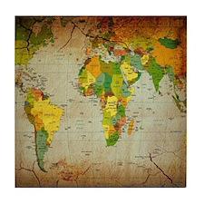 World Map V Tile Coaster