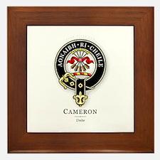 Clan Cameron Framed Tile