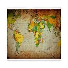 World Map V Queen Duvet