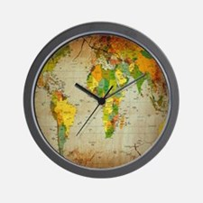 World Map V Wall Clock