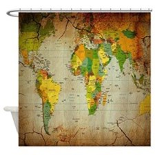 World Map V Shower Curtain