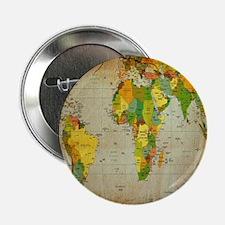 "World Map V 2.25"" Button (100 pack)"