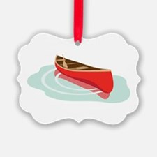 Canoe on Water Ornament