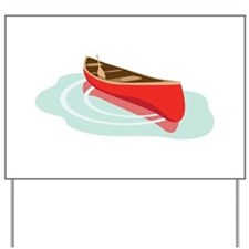Canoe on Water Yard Sign