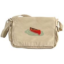 Canoe on Water Messenger Bag