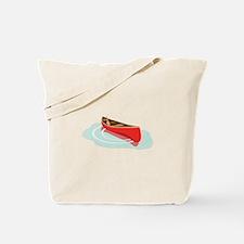Canoe on Water Tote Bag