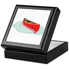 Canoe on Water Keepsake Box