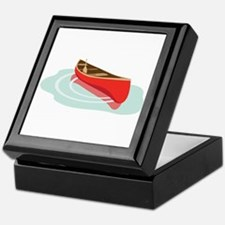 Canoe on Water Keepsake Box