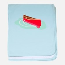 Canoe on Water baby blanket