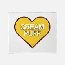 Cream Puff Throw Blanket