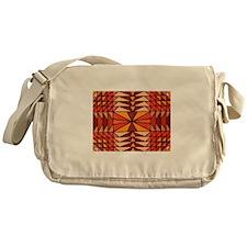Kaleidoscopic Autumn Messenger Bag