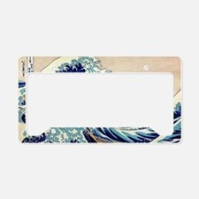 Great Wave Off Kanagawa License Plate Holder