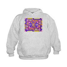Purple Geometric Hoodie