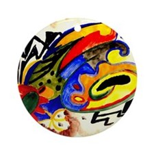 August Macke - Abstract Pattern I Round Ornament