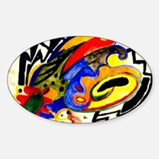August Macke - Abstract Pattern I Sticker (Oval)