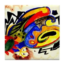 August Macke - Abstract Pattern I Tile Coaster