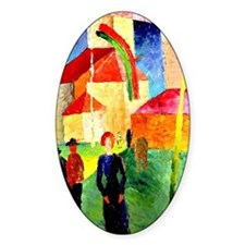 August Macke - Church Decorated wit Decal