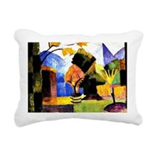 August Macke - Garden on Rectangular Canvas Pillow