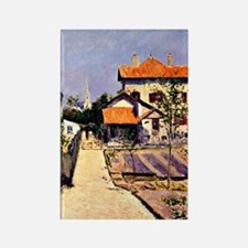 Caillebotte - The Artist's House  Rectangle Magnet