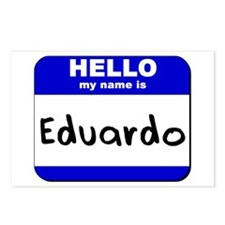 hello my name is eduardo  Postcards (Package of 8)