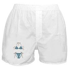 Blue Bikini Boxer Shorts