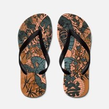 Asian beauty with dragon in a grunge design Flip F