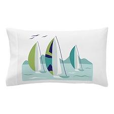 Sail Boat Race Pillow Case