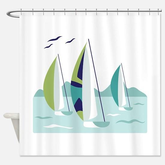 Sail Boat Race Shower Curtain
