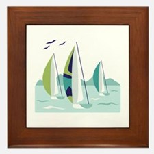 Sail Boat Race Framed Tile