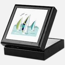 Sail Boat Race Keepsake Box