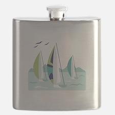 Sail Boat Race Flask