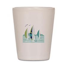 Sail Boat Race Shot Glass