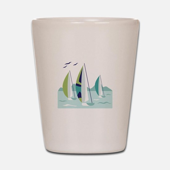 Sail Boat Race Shot Glass