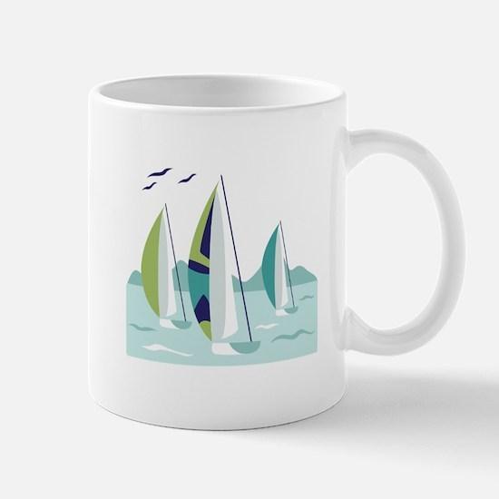 Sail Boat Race Mugs