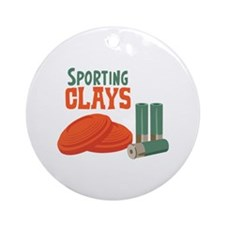 Sporting Clays Ornament (Round)