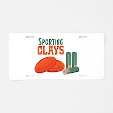 Sporting Clays Aluminum License Plate