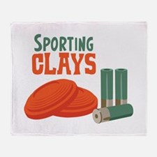 Sporting Clays Throw Blanket