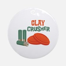 Clay Crusher Ornament (Round)