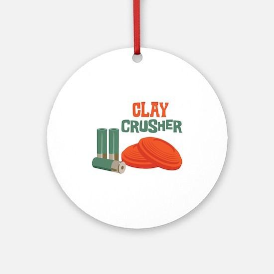 Clay Crusher Ornament (Round)