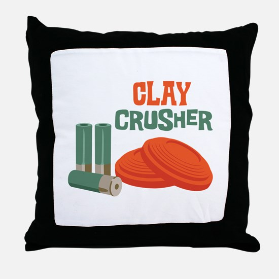 Clay Crusher Throw Pillow