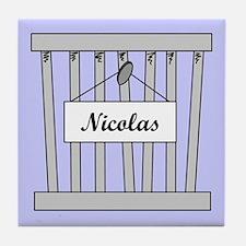 nicolas cage Tile Coaster