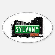 Sylvan Av, Bronx, NYC Oval Decal