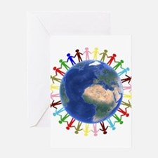One Earth - One People Greeting Cards