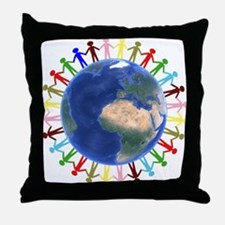 One Earth - One People Throw Pillow