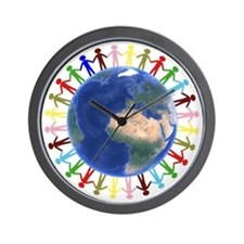 One Earth - One People Wall Clock