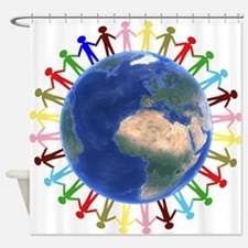 One Earth - One People Shower Curtain