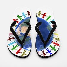 One Earth - One People Flip Flops