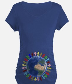 One Earth - One People Maternity T-Shirt