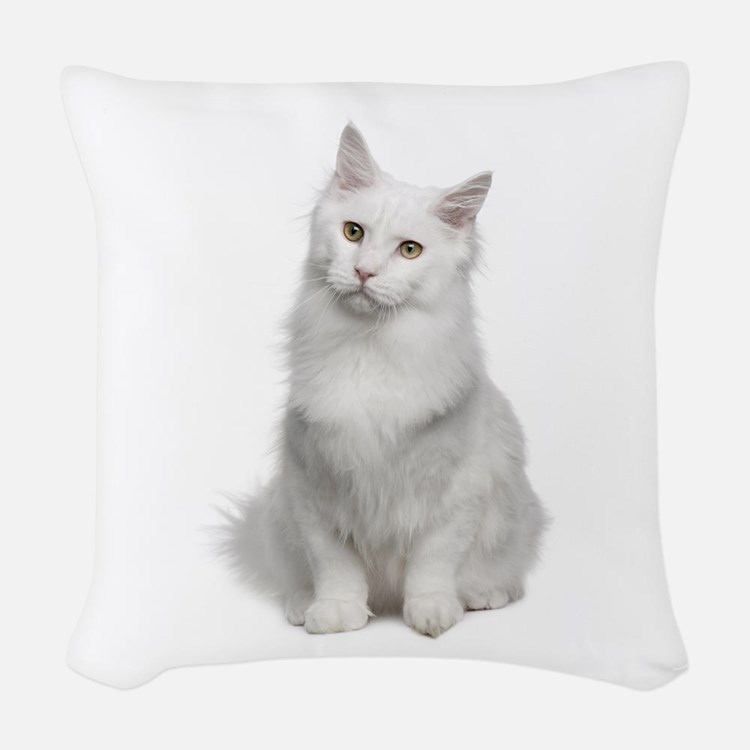 Angora Woven Throw Pillow